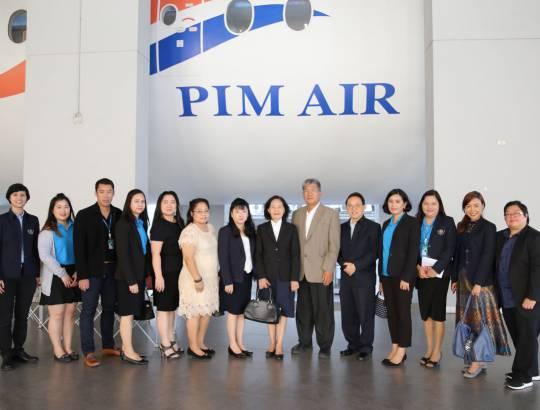 ธพส. เข้าศึกษาดูงานศูนย์นวัตกรรมหุ่นยนต์ และระบบอัตโนมัติ (iCRAS) และศูนย์ฝึกปฏิบัติการธุรกิจการบิน (Aviation Business Training Center) ณ สถาบันการจัดการปัญญาภิวัฒน์